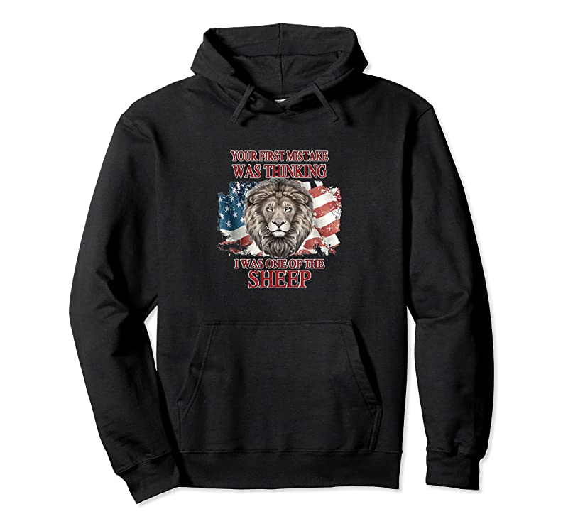 Shop Your First Mistake Not Sheep Patriot Party Lion The People T Shirts