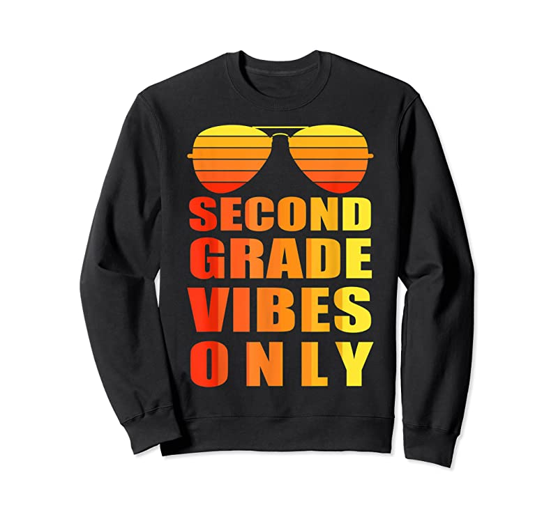 Trending 2nd Second Grade Vibes Only Funny Gifts Back To School T Shirts