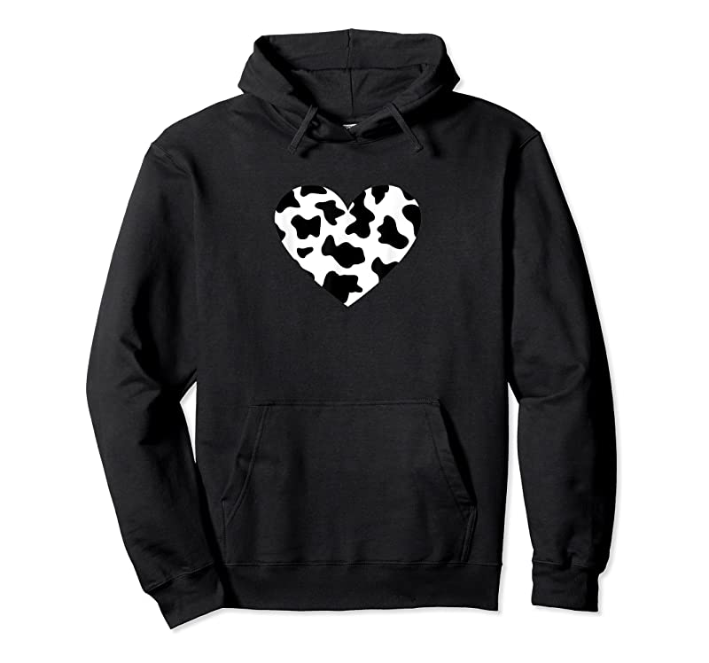 Trending Awesome Cow Print Black Amp; White Print Heart T Shirts