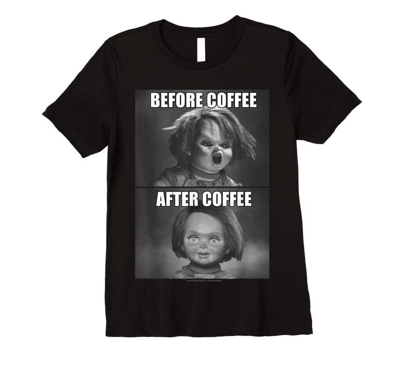 Trending Child's Play Chucky Before Coffee After Coffee T Shirts