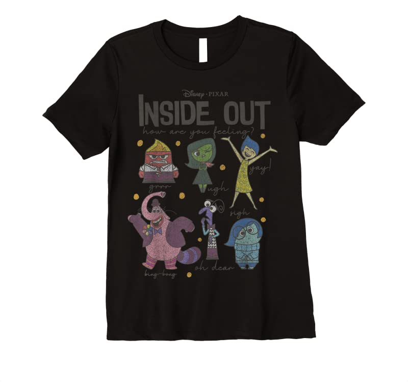 Trending Disney Pixar Inside Out How Are You Feeling Group Shot T Shirts