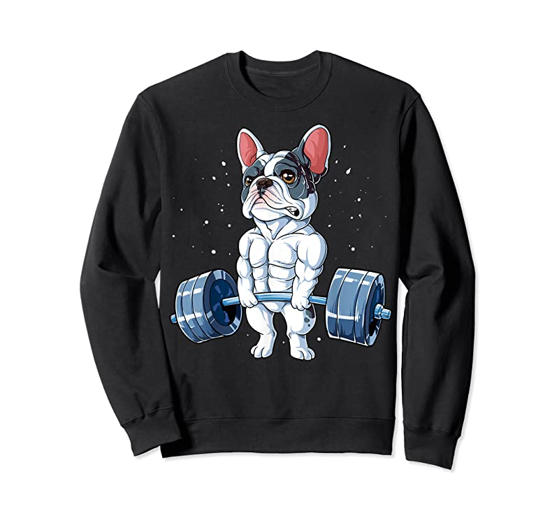 Trending French Bulldog Weightlifting Funny Deadlift Men Fitness Gym T Shirts