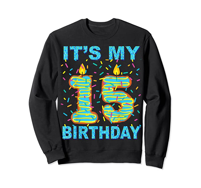 Trending It's My 15th Birthday Funny Sweet Donut 15 Yrs Old Gift Kids T Shirts