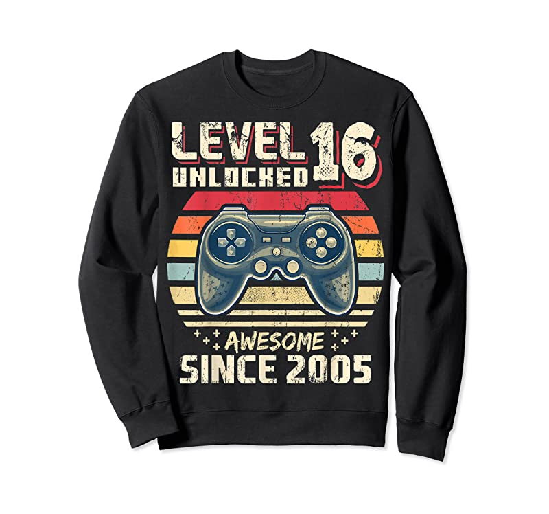 Trending Level 16 Unlocked Awesome 2005 Video Game 16th Birthday Gift T Shirts