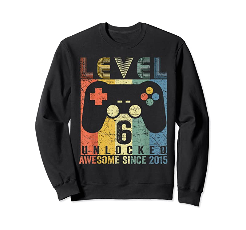 Trending Level 6 Unlocked Awesome Video Game 6th Birthday Boys Kids T Shirts