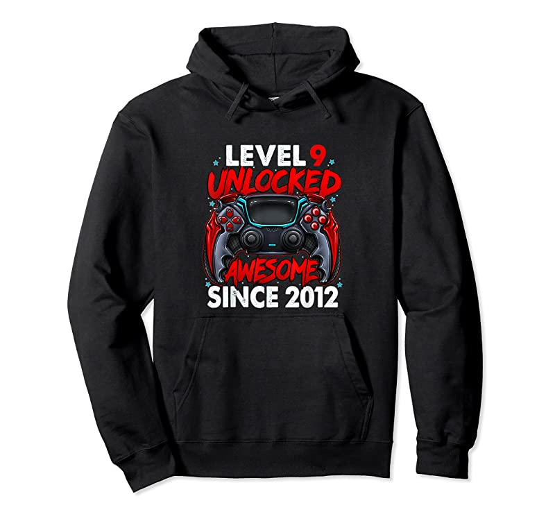 Trending Level 9 Unlocked Awesome Since 2012 9th Birthday Gaming T Shirts