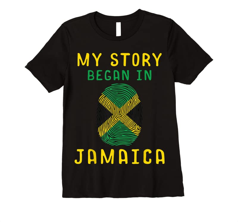 Trending My Story Began In Jamaica Funny Jamaican Pride Gift T Shirts