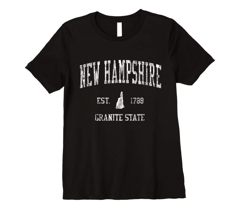 Trending New Hampshire Vintage Sports Design Nh Tee T Shirts