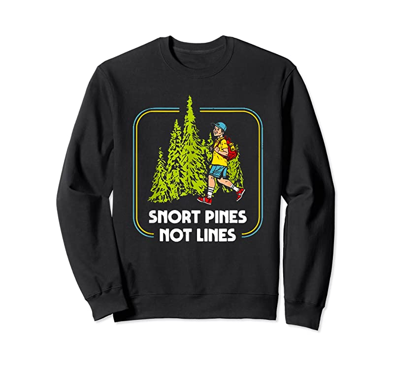Trending Snort Pines Not Lines Funny Boy Going To School Vintage T Shirts