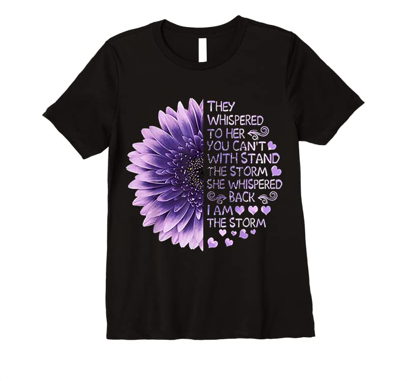 Trending They Whispered To Her You Can't With Stand The Storm T Shirts