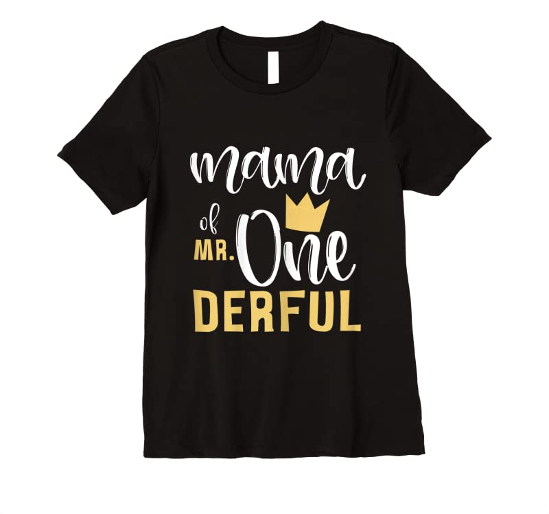 Trending Womens Mama Of Mr Onederful 1st Birthday First One Derful Matching T Shirts