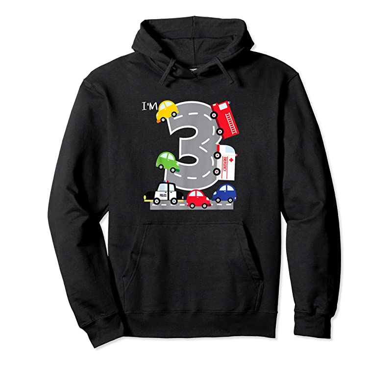 Trends 3rd Birthday 3 Year Old Transportation Cars Fire Truck T Shirts