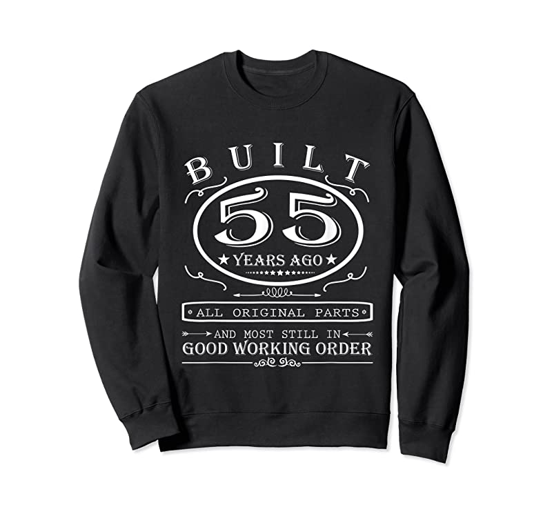 Trends 55th Birthday Graphic Built 55 Years Ago Original Parts T Shirts
