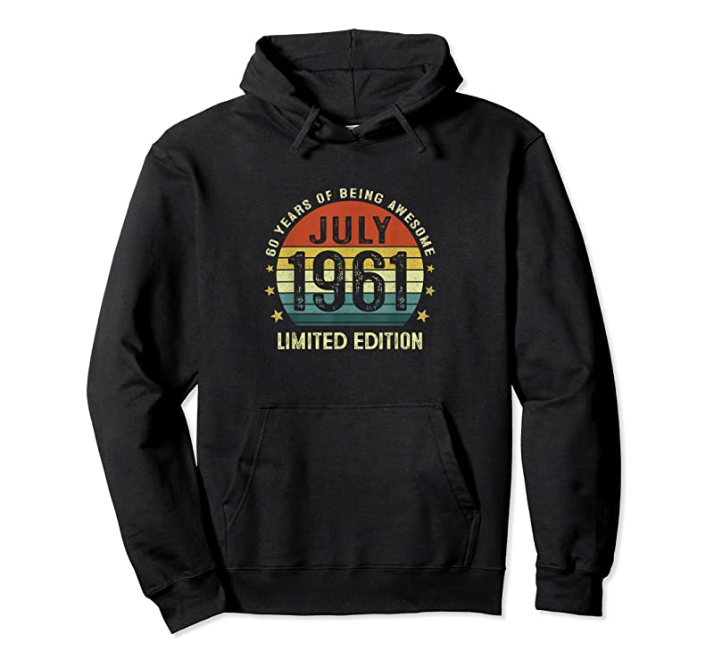 Trends 60 Year Old Vintage July 1961 Limited Edition 60th Birthday T Shirts