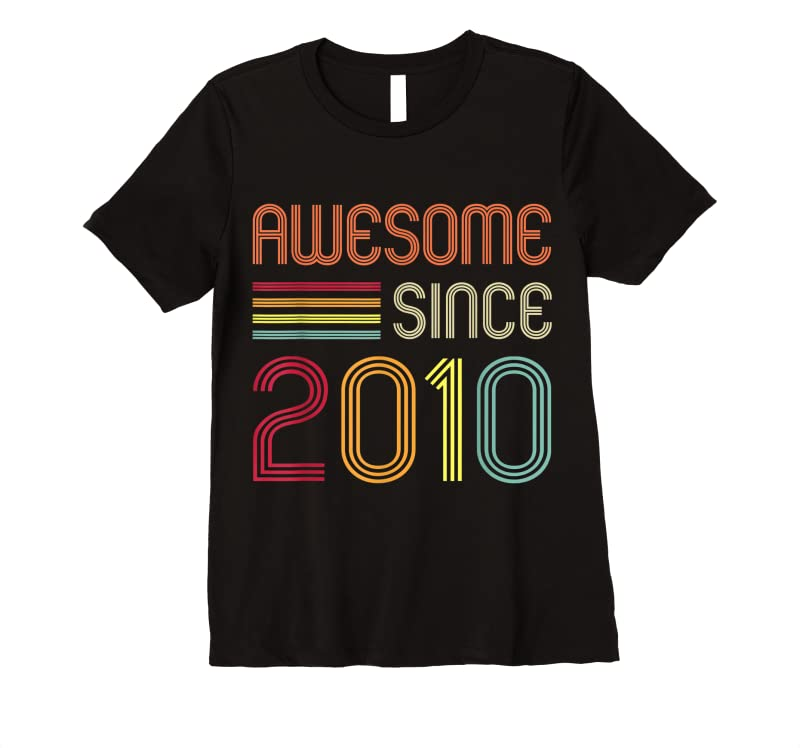 Trends Awesome Since 2010 11th Birthday Retro T Shirts