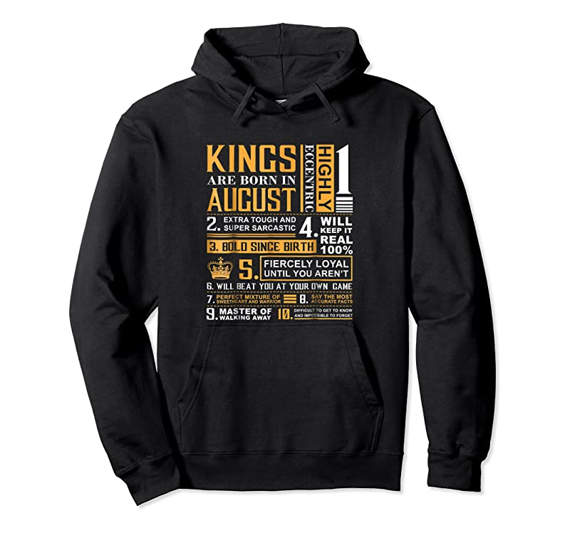 Trends Birthday Gifts Kings Are Born In August T Shirts