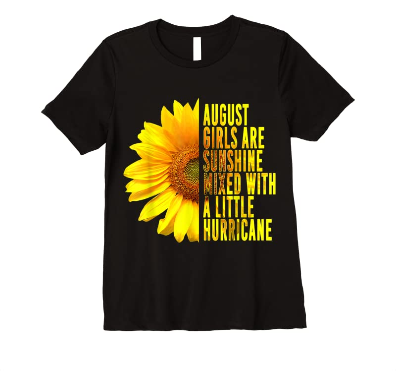 Trends Born In August Womans Birthday Sunflower Lover Flower Quote T Shirts