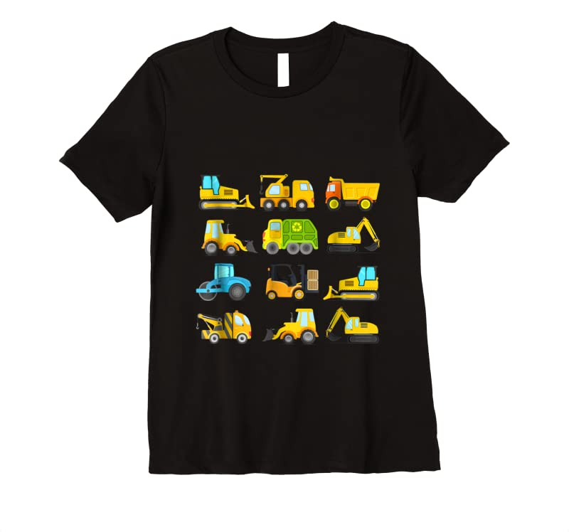 Trends Boys' Trucks And Diggers Short Sleeved For Toddlers T Shirts