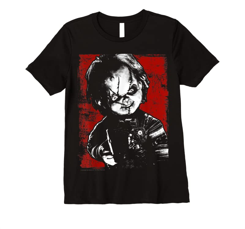 Trends Child's Play Chucky Distressed Portrait T Shirts