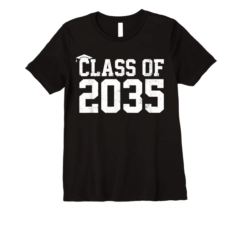 Trends Class Of 2035 Grow With Me Graduation First Day Of School T Shirts