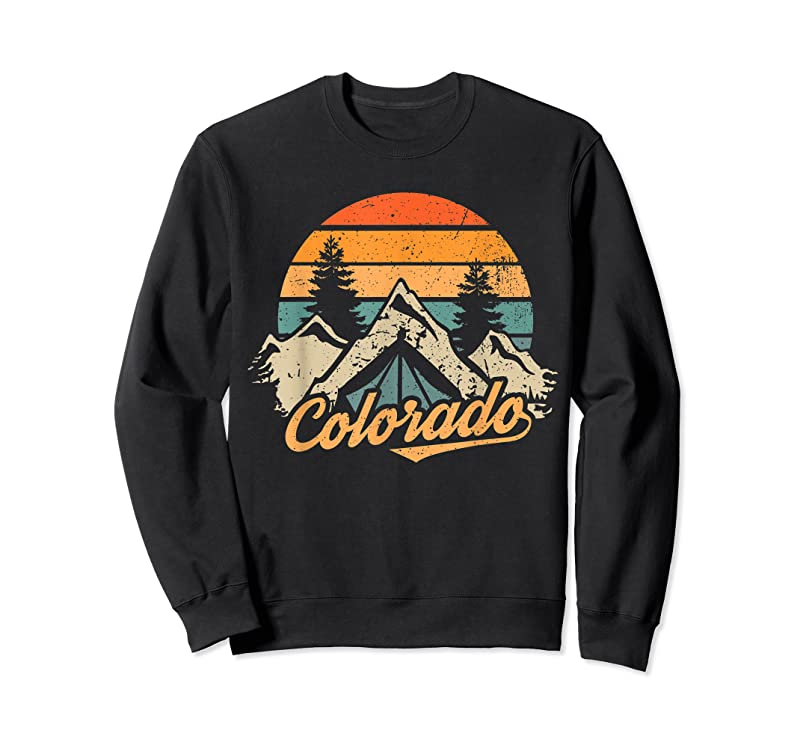 Trends Colorado Tee Retro Vintage Mountains Nature Hiking Camping T Shirts
