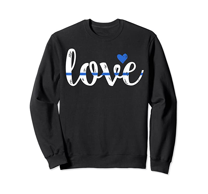 Trends Cute Thin Blue Line Love Design Police Wife Or Girlfriend T Shirts