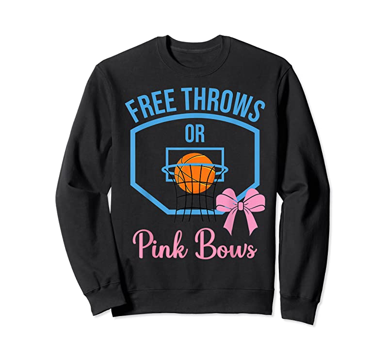 Trends Free Throws Or Pink Bows Gender Reveal Designs T Shirts