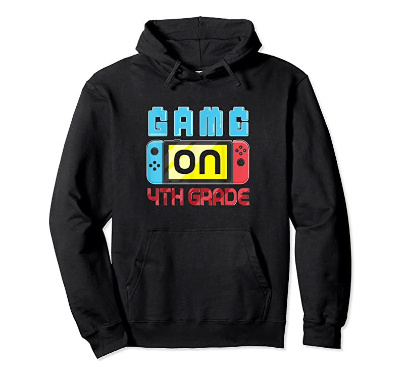 Trends Game On 4th Grade Gaming Gamer Back To School Student Kids T Shirts