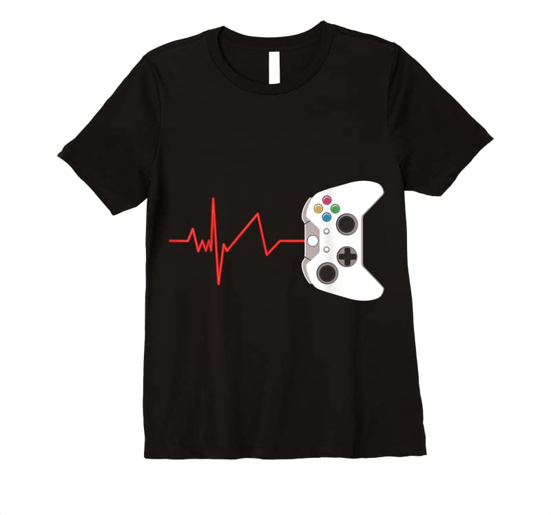 Trends Gamer Heartbeat Gift For Video Game Lover T Shirts