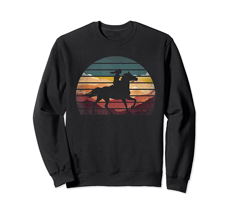 Trends Girl Horse Riding Vintage Cowgirl Texas Ranch T Shirts