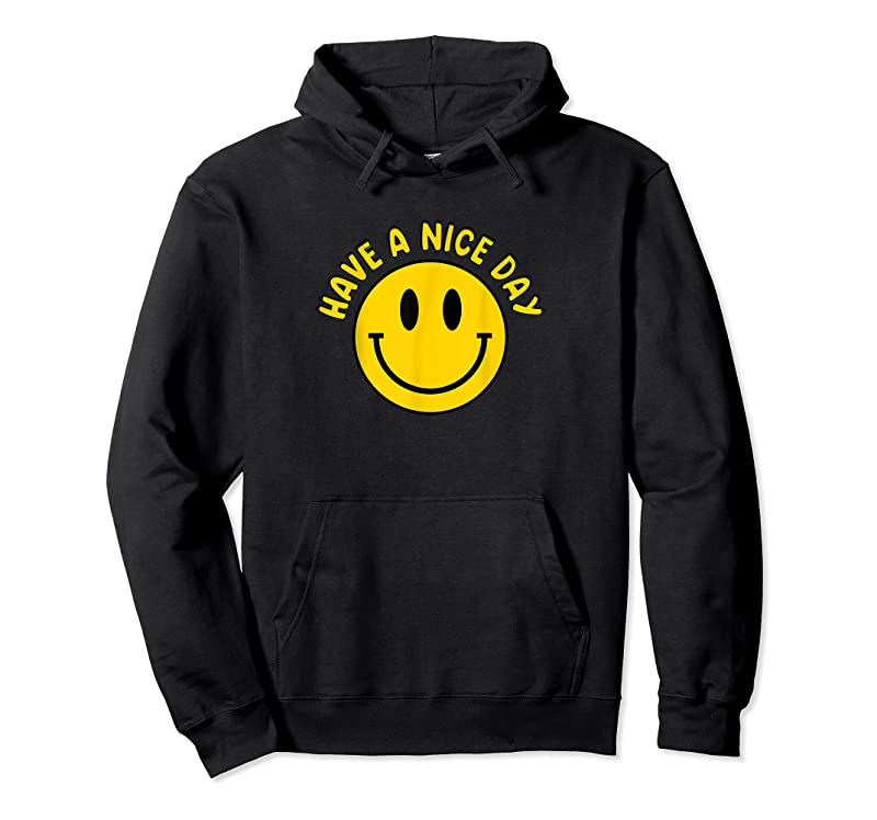 Trends Have A Nice Day Smile Happy Face Emoji Retro Smiley Face T Shirts