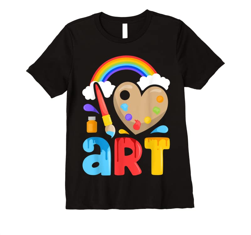 Trends I Love Art Artist Painter Colorful Painting Gifts Kids Girls T Shirts