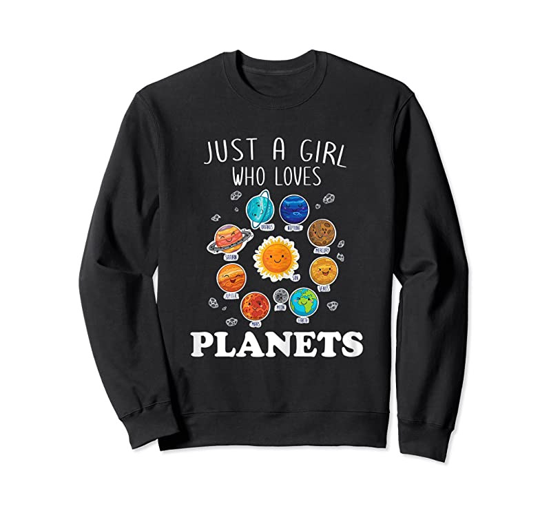 Trends Just A Girl Who Loves Planets Amp; Solar System Space Science T Shirts