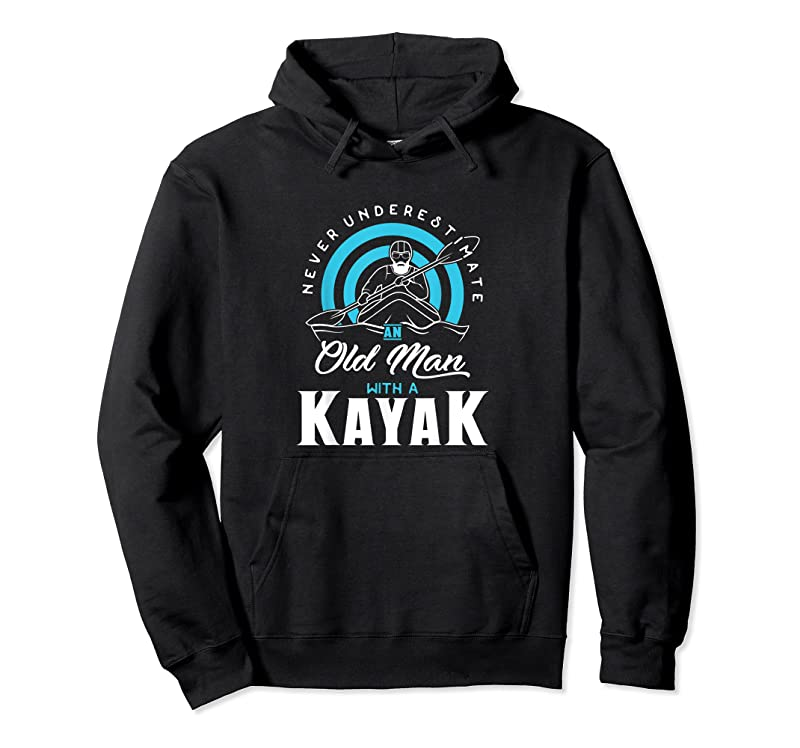 Trends Mens Never Underestimate An Old Man With A Kayak T Shirts