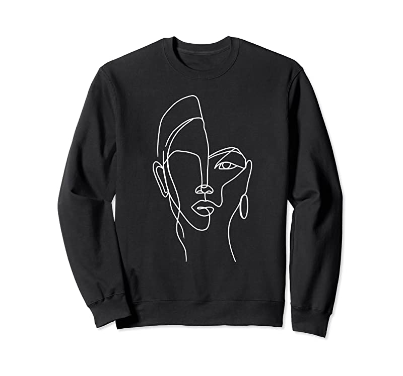 Trends Minimalist Aesthetic Line Art Woman Artsy Abstract Fashion T Shirts