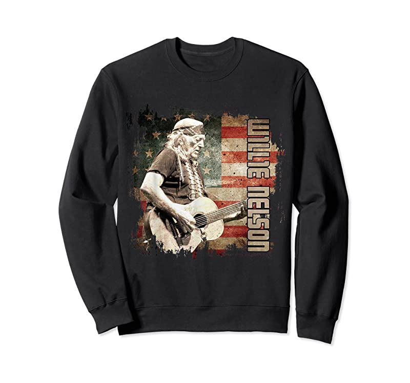 Trends Retro Willie Idol Nelson Country Music Outlaws Flag American T Shirts