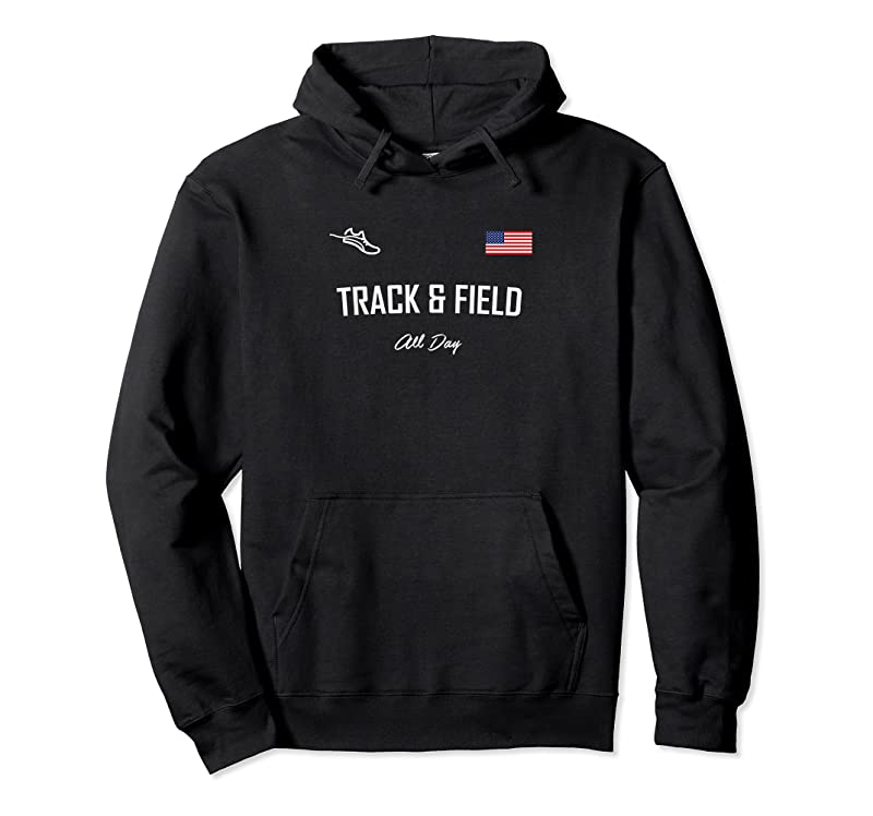 Trends Track And Field Gifts Track Amp; Field All Day Usa Flag T Shirts
