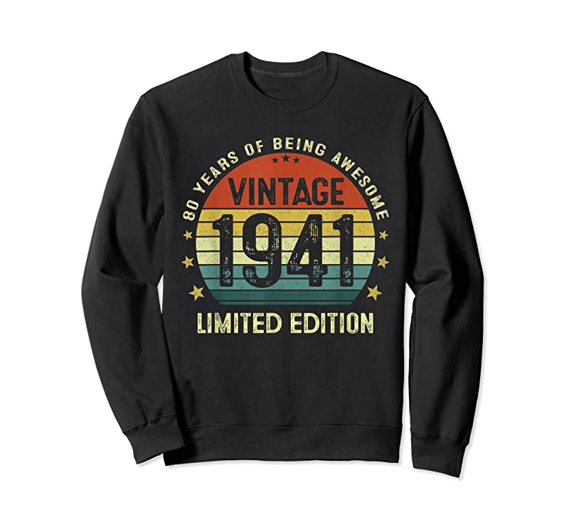 Trends Vintage 1941 Limited Edition 80 Years Old 80th Birthday T Shirts