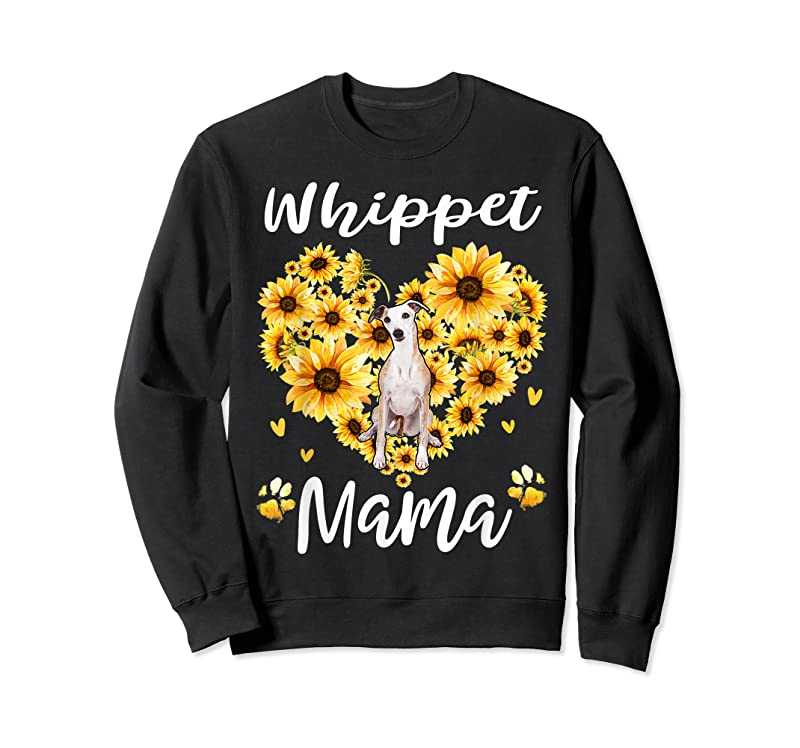 Trends Womens Sunflower Whippet Mama Dog Lover Gifts T Shirts