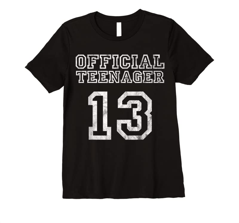 Unisex 13th Birthday Official Teenager 13 Years Old Girl Gift T Shirts