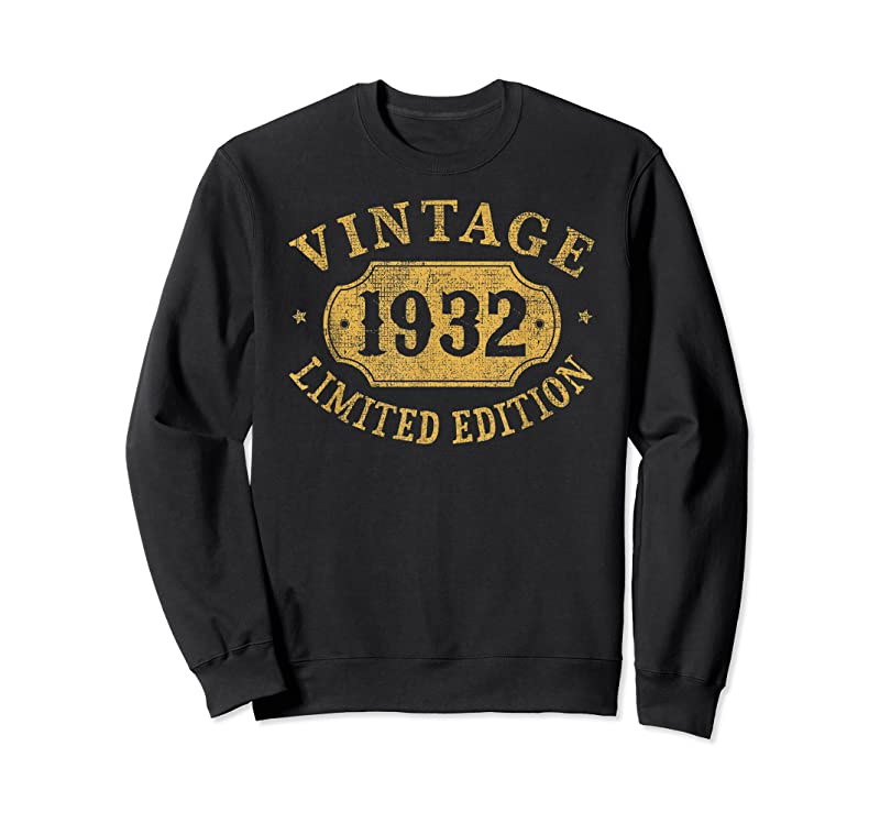 Unisex 89 Years Old 89th Birthday Anniversary Gift Limited 1932 T Shirts