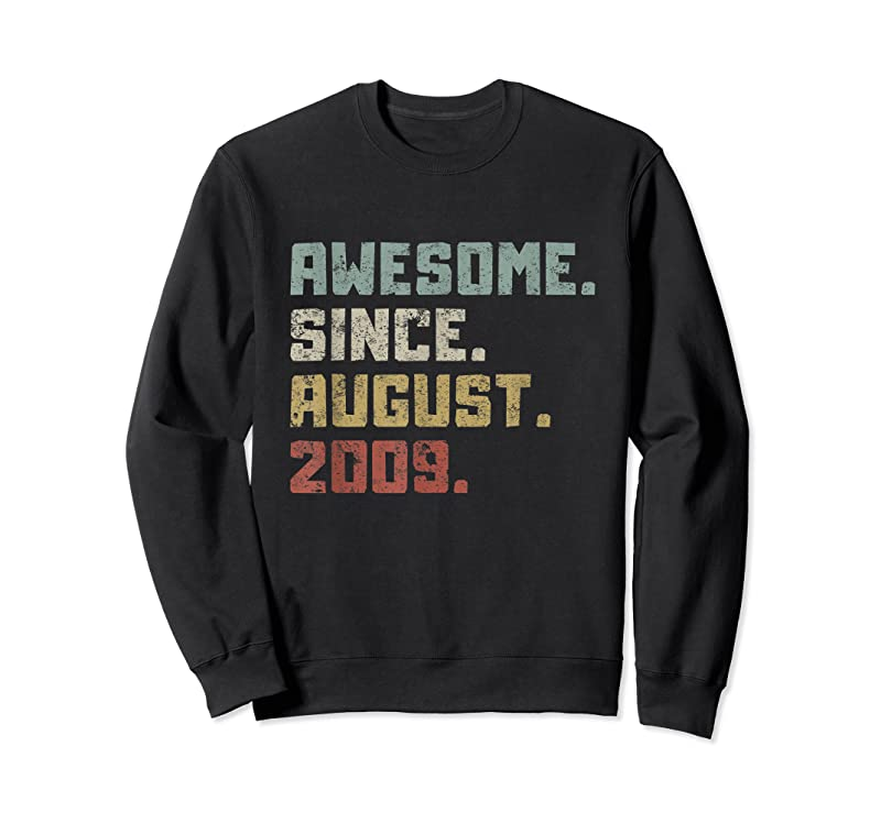 Unisex Awesome Since August 2009 12th Birthday 12 Years Old Boy Kid T Shirts