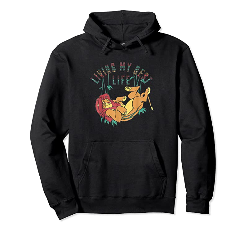 Unisex Disney The Lion King Living My Best Life Simba Text Fill T Shirts