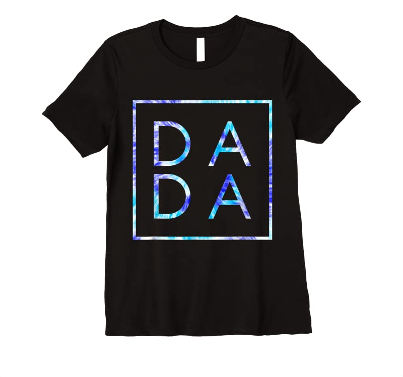 Unisex Father's Day For New Dad Dada Him Coloful Tie Dye Dada T Shirts