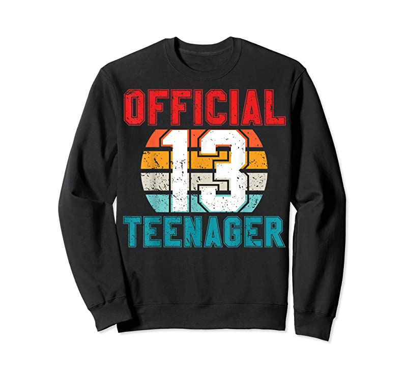 Unisex Official Teenager 13 Years Old Gift 13th Birthday Boys Girl T Shirts
