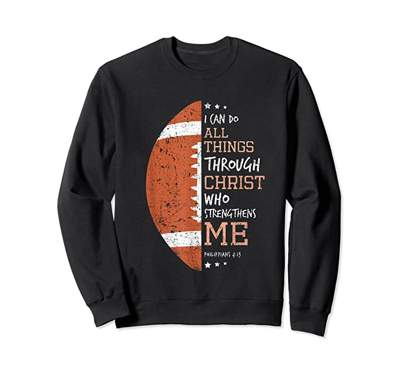 Unisex Philippians 4 13 I Can Do All Things Christian Us Football T Shirts