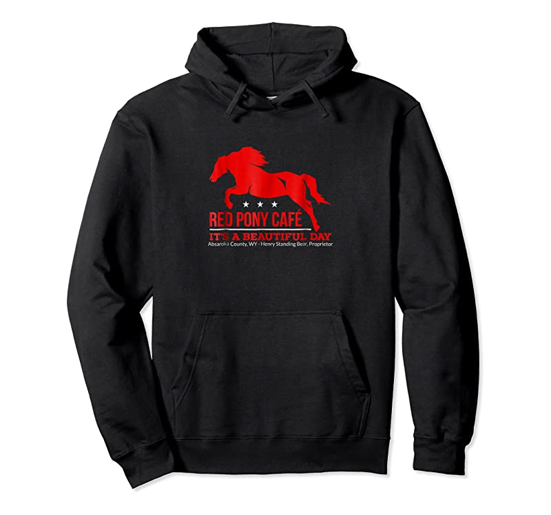 Unisex Red Pony Cafe Funny Cute Horse Lover T Shirts