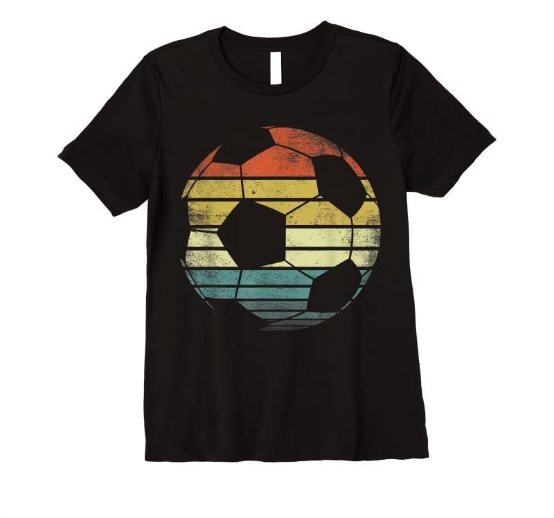 Unisex Soccer Player Gifts Funny Ball Retro Vintage Style Coach T Shirts