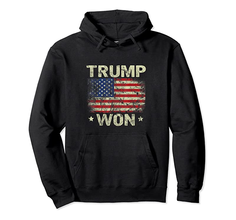 Unisex Trump Won 4th Of July American Flag For Men T Shirts