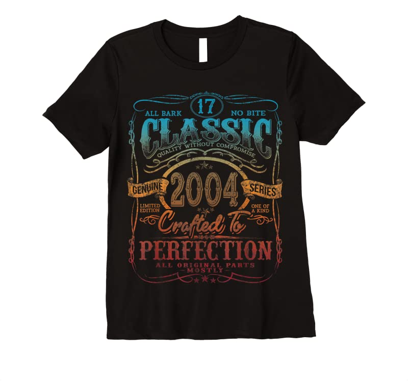 Unisex Vintage 2004 Limited Edition Gift 17 Years Old 17th Birthday T Shirts